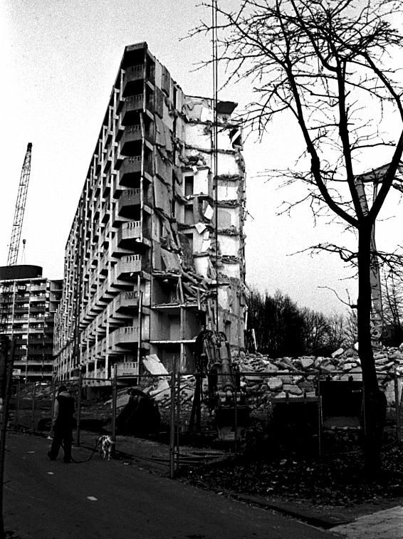 Renewal of the Bijlmer in the 1990s in full swing. Image by Pieter Boersma Photography