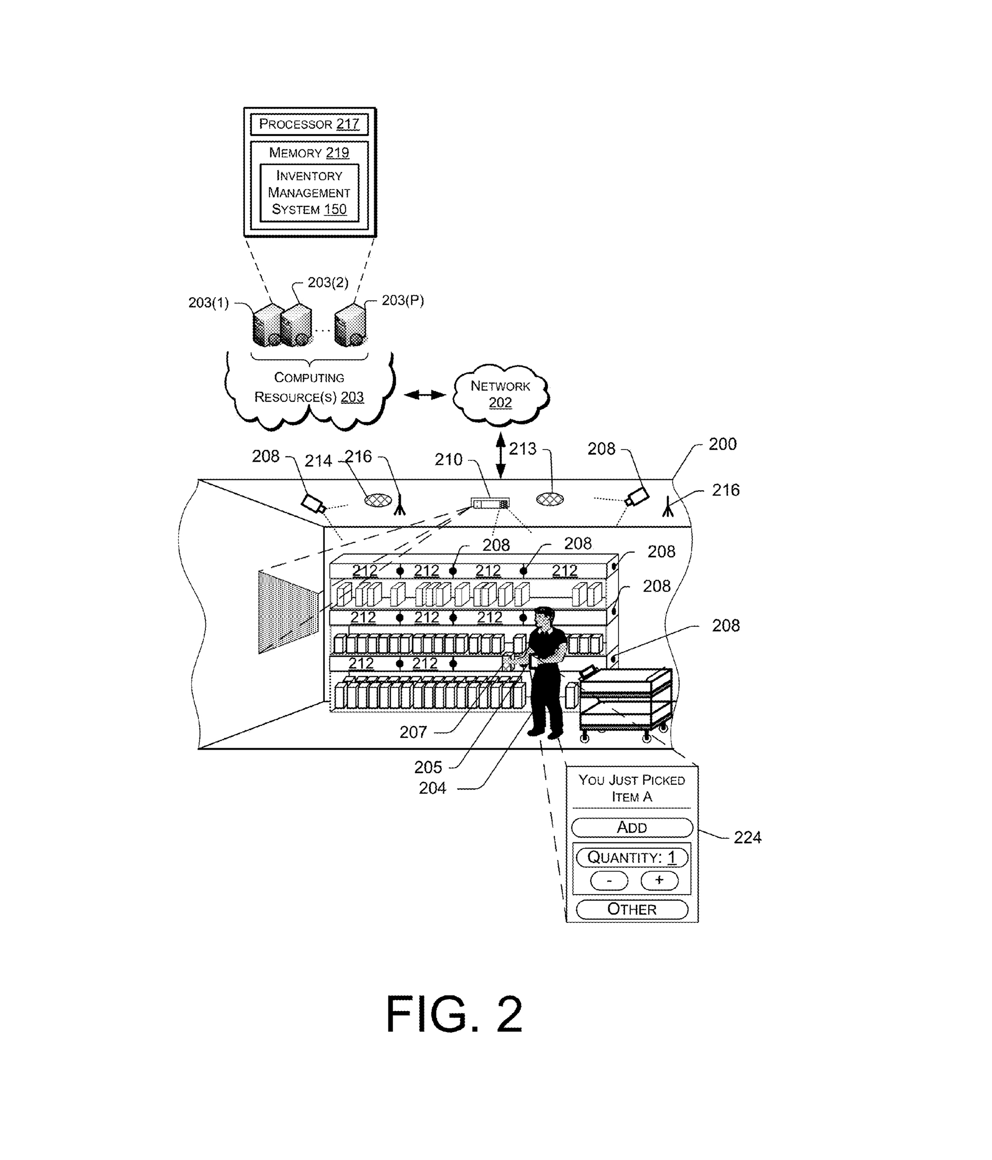 Amazon Urbanism Patents And The Totalizing World Of Big Tech Diagram A Network Architecture In Multistory Building Patent Drawing For Transitioning Items From Materials Handling Facility Pay By Selfie
